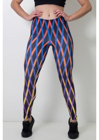 Calça Feminina Legging Sublimada Orangegrid   Ref: CAL389-041