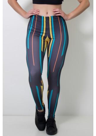 Calça Feminina Legging Sublimada Direct Lines | Ref: CAL393-041