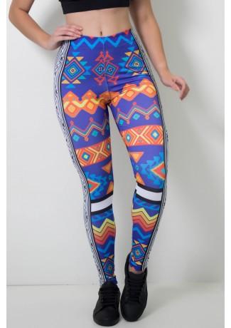 Calça Feminina Legging Sublimada Maia Art | Ref: CAL405-041