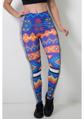 Calça Feminina Legging Estampa Digital Maia Art | Ref: CAL405-041