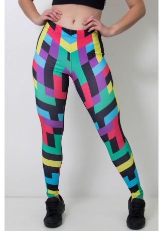 Calça Feminina Legging Sublimada Colorquad   Ref: CAL413-041