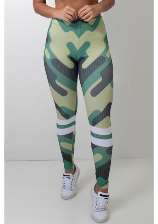 Calça Feminina Legging Sublimada Camouflage   Ref: CAL418-041