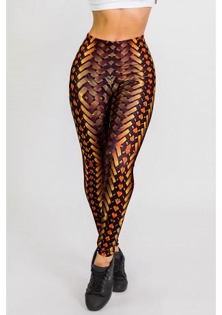 Calça Legging Sublimada New Braided Gold | Ref: CA441-041-000