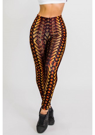 Calça Legging Sublimada New Braided Gold | Ref: CA441-041-000