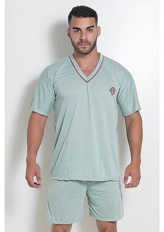 Pijama Mas. Curto 070 (Verde Claro) CEZ-PA070-001