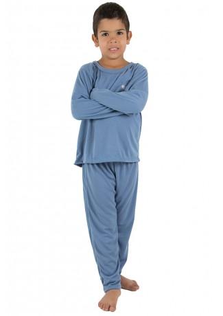 Pijama Infantil Longo 078 (Azul Acinzentado) CEZ-PA078-003