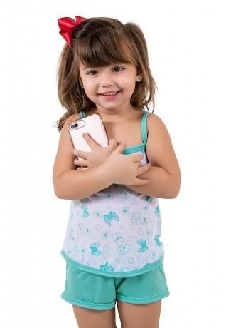 Babydoll Infantil 086 (Verde Piscina) | Ref: CEZ-PA086-002