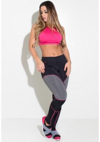 Top com Y nas Costas Rosa Pink | Ref: F1173-002