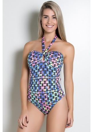 Body com Bojo (Mosaico Colorido Fluorescente) | Ref:F13-002