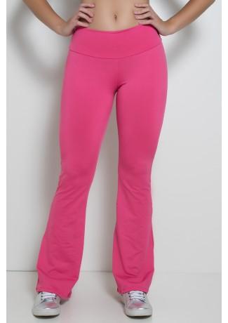 Calça Feminina Flare Boca de Sino (Rosa Pink) | Ref: F150-005