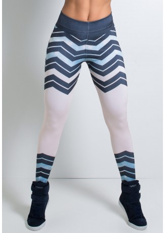 Legging Zig Zag Estampa Digital | Ref: F1585-001
