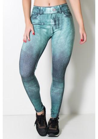Legging Jeans Verde Sublimada | Ref: F1715-001