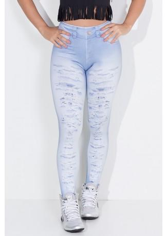 Legging Jeans Rasgado Sublimado   Ref: F1797-001