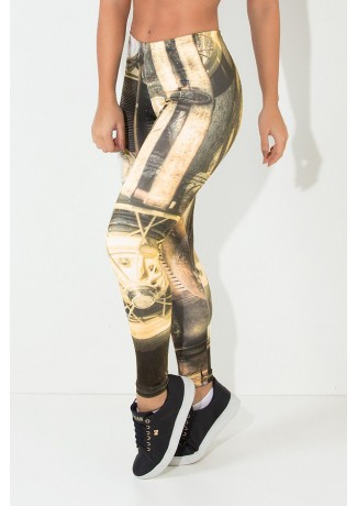 Legging Ancient Car Sublimada | Ref: F1868-001