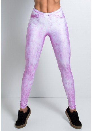 Legging Jeans Rosa Estampa Digital | Ref: F2147-001
