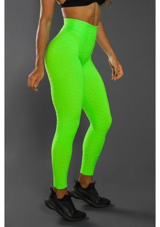 Legging Tecido Bolha Fluor (Verde Limão Fluor)   Ref:F300-002
