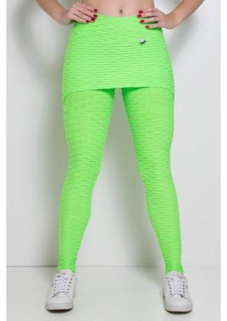 Legging com Tapa Bumbum Bolha Fluor (Verde Limão Fluor) | Ref: F302-002