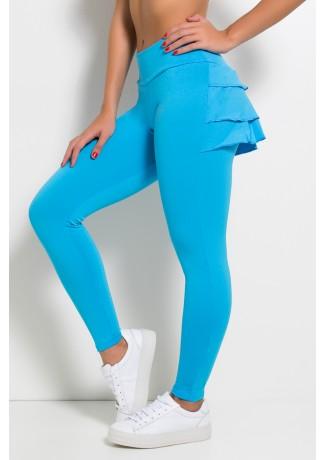 Calça com Babado (Azul Celeste) | Ref:F313-004