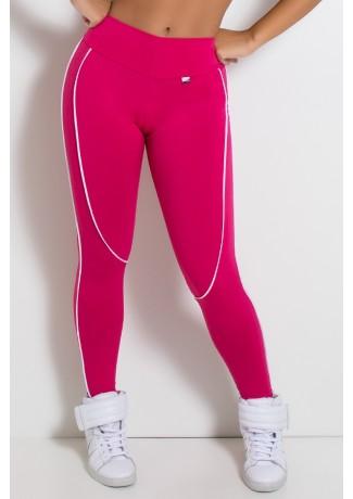 Legging Khloe com Vivo (Rosa Pink / Branco) | Ref: F463-003