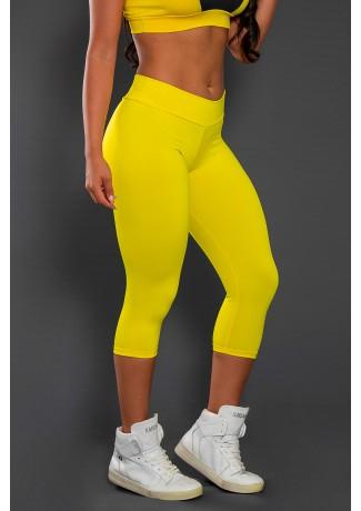 Calça Corsário  (Amarelo) | Ref:F73-013