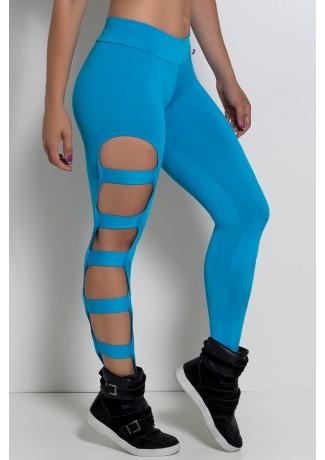 Calça Legging Rasgada (Azul Celeste)   Ref: F98-004