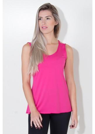 Camiseta de Microlight Nadador com Alça Dupla (Rosa Pink) | Ref: KS-F1022-003