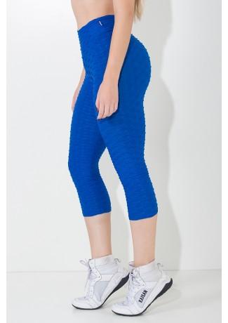Calça Corsário Tecido Bolha (Azul Royal) | Ref: KS-F105-006