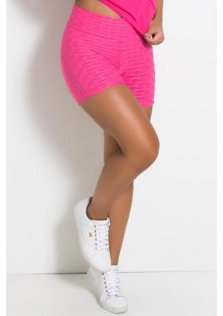 Shortinho Tecido Bolha (Rosa Pink) | Ref: KS-F114-003