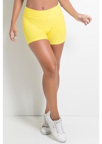 Shortinho Tecido Bolha (Amarelo) | Ref: KS-F114-008