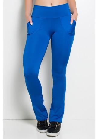 Calça Legging Bailarina Cores Lisas (Azul Royal) | Ref: KS-F145-007