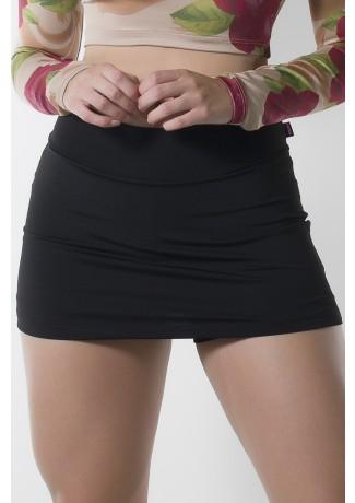 Short Saia Liso (Preto) | Ref: KS-F1665-003