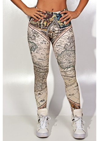 Legging Geography Sublimada | Ref: KS-F1827-001