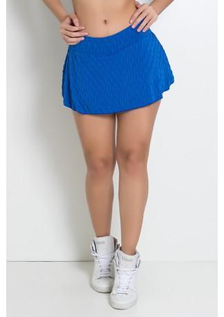 Short Saia Isabelle Tecido Bolha (Azul Royal) | Ref: KS-F265-009