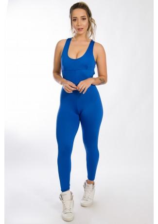 Macacão Liso Viviane (Azul Royal) | Ref: KS-F275-002