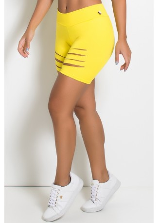 Bermuda Shakira Rasgada (Amarelo) | Ref: KS-F357-004