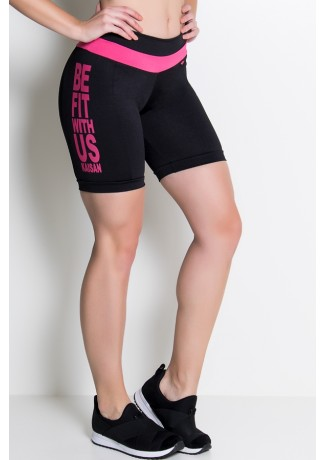 Bermuda Dani (Be Fit With Us) / (Preto / Rosa Pink) | Ref: KS-F441-001