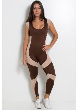 Macacão Vânia (Marrom / Chocolate) | Ref: KS-F607-001