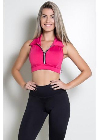Top Liso com Fecho (Rosa Pink)   Ref: KS-F81-002