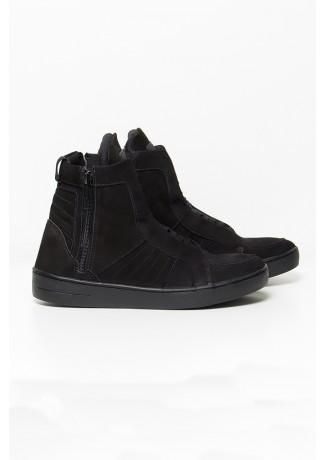 Sneaker Nobuck com Fecho (Preto) | Ref: KS-T53-002