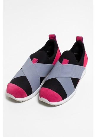 Tênis Violet Jogger (Preto / Rosa Pink / Cinza) | Ref: KS-T63-003