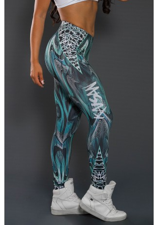 Legging Estampa Digital PRO (Ondas Coloridas) | Ref: NTSP03-001