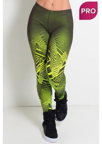 Legging Estampa Digital  PRO (Zig Zag Amarelo Neon) | Ref: NTSP10-002