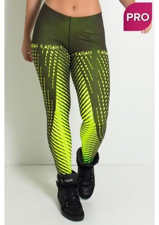 Legging Sublimada PRO (Raios Amarelo Neon) | Ref: NTSP11-001