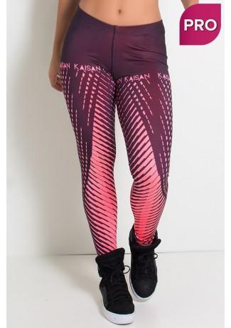 Legging Estampa Digital PRO (Raios Rosa Neon) | Ref: NTSP11-002