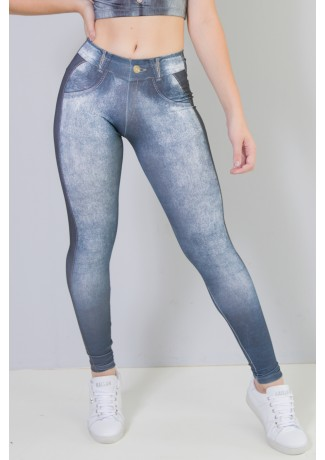 Legging Sublimada (Jeans Couro)   Ref: NTSP29-001