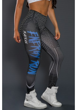 Legging Estampa Digital PRO (Energy Run Blue) | Ref: NTSP35-001