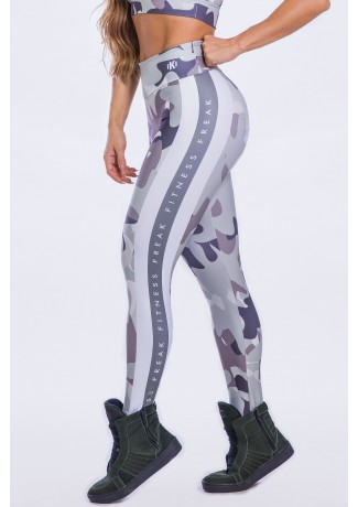 Calça Legging Estampa Digital Shades of Gray Camo | Ref: K2299-A