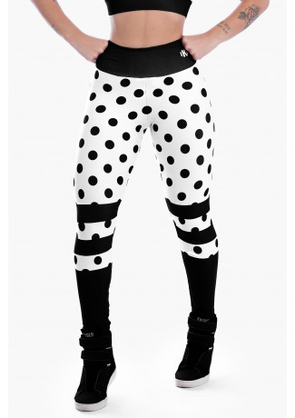 Calça Legging Estampa Digital Black Spotted | Ref: K2303-A