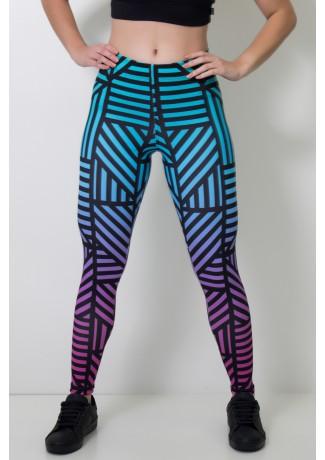 Calça Legging Sublimada Black Lines  | Ref: CA360-041-000