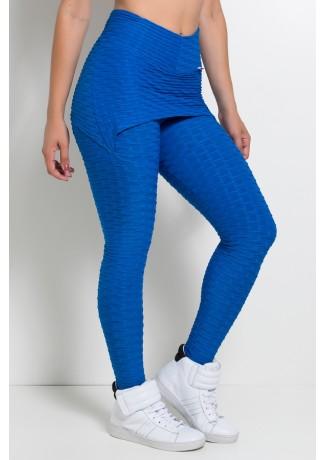 Calça Saia Tecido Bolha (Azul Royal) | Ref: KS-F225-005